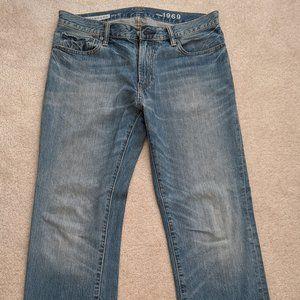 """Men's GAP """"Standard"""" jeans 33W x 32L EUC"""